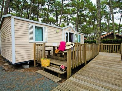 Photo for Camping Le Vieux Port ***** - Mobile home Resasol PMR 3 rooms 4/6 people
