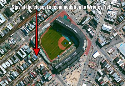 The Residence is Adjacent to Wrigley Field.