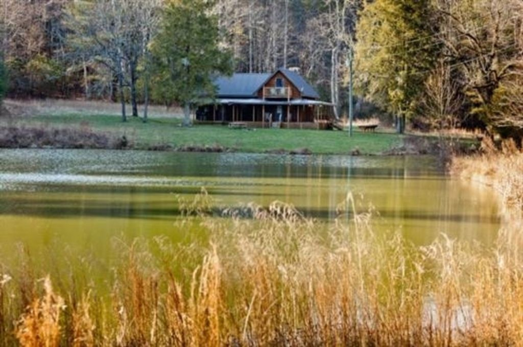 Private pond historic cabin on 12 acres homeaway for Private fishing ponds near me