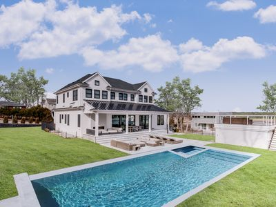 Photo for Luxury Sag Harbor Water Views & Private Beach Steps Away