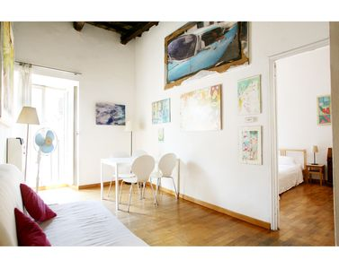 Photo for Bright, charming, wood ceilings, in Trastevere, Rome Historic Centre!