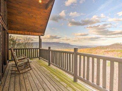 Photo for Rustic Sevierville Mtn Cabin w/Views & 2 Decks!