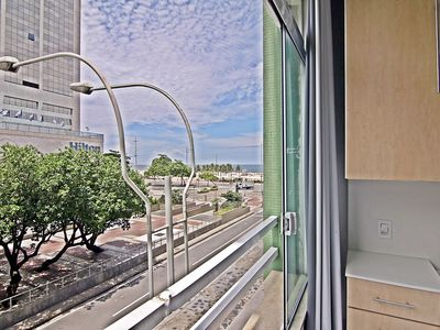 Photo for Modern apartment season with side view to the beach of Copacabana.