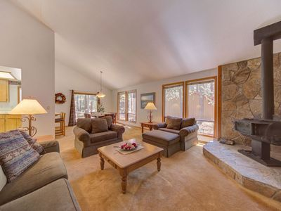 Photo for A cozy single level home with a wood stove that's close to the park and pool!