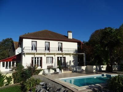 Photo for Large comfortable house gite, private pool, sleeps 15, lovely views, SW France