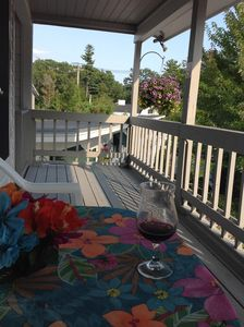 Enjoy the deck and the lovely ocean breeze.