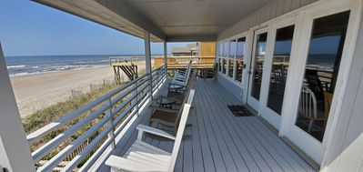 Photo for C~Kissed Ocean-Front, Vacation Home On Oak Island