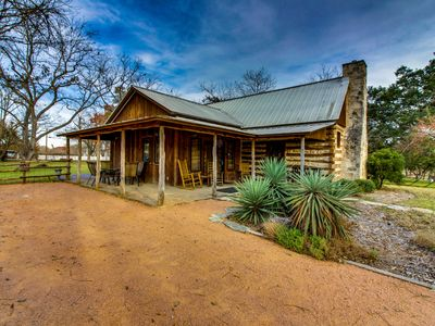 Photo for Dog-friendly, rustic cottage w/ large porch, private hot tub - near Main Street!