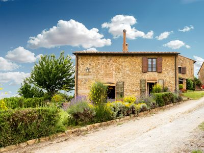 Photo for Luxury Farmhouse In Tuscany,val D'orcia With Two Large Independent Apartments