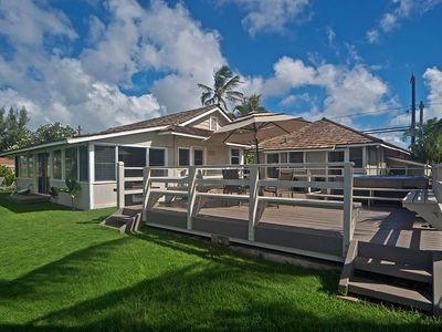 Photo for 4 BR/2 BA Beach/Oceanfront Property Leading to Stunning Laniakea Beach