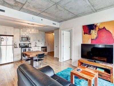 Photo for ★★★★★ Downtown Sky Loft /w gym & indoor parking