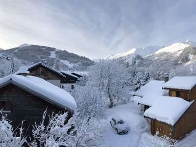 Photo for VALLOIRE superb top floor apartment view - south facing balcony
