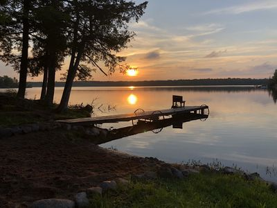 Photo for LakeFront Cottage W/Sand Beach! Quiet, Family Friendly Cottage W/700' Frontage