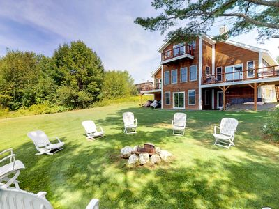 Photo for NEW LISTING! Lakefront home w/outdoor firepit, private dock  - near downtown