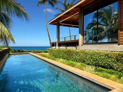 Photo for Hale Makai: Romantic Oceanfront Luxury with AC and privacy for 2