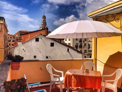 Photo for Typical Ligurian House with Terrace. City center