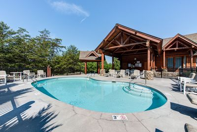 Outdoor pool and hot tub open May to October.