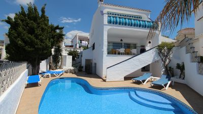 Photo for Nerja: Nice villa with private pool near the beach, WIFI and air conditioning