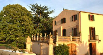 Photo for Historical villa with pool surrounded by vineyard at 10 minutes drive from beach