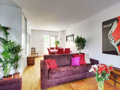 Photo for Canal St Martin view- 1 bedroom central Paris with Terrace & Parking