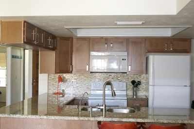 kitchen with microwave, convectionoven,dishwasr and RO filteration system
