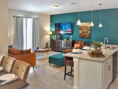 Photo for Brand New Stylish Townhome - 6 Minutes To Disney - Private heated Pool.