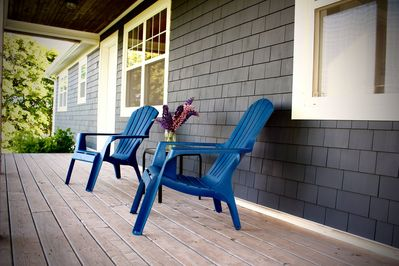 Enjoy the morning sun on the front deck