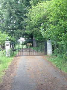 Private gated entrance.