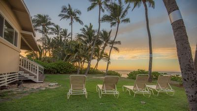 Enjoy your private beach side yard with beautiful views of the sunset