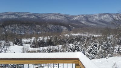 Photo for Cozy 2BR Riverfront Cabin w/ Gorgeous Views, Hot Tub, on 47 acres