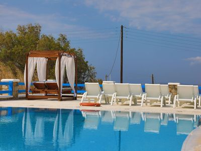 Photo for Maganos Ennea: Shared pool, a few metres from Paraga beach, breakfast, Wifi, A/C inluded, Sea views