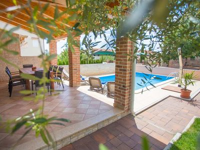 Photo for Semi-detached villa with a private pool, 1 km distant from the sea