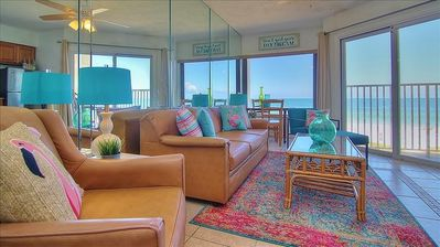 Photo for Freshly Updated, Lots of Pizzazz Beachfront Condo - Ideal for Romantic Getaway!