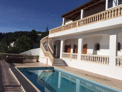 Photo for Spacious villa in a quiet location with stunning sea views and hot tub / pool