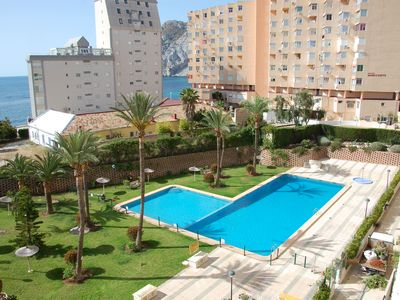 Photo for APARTMENT 1ST LINE LEVANTE BEACH - SEA VIEWS AND TERRACE