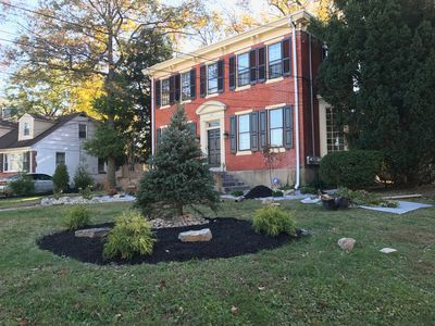 Front of home - colonial revival, built in 1890 (landscaping in progress)