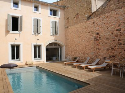 Photo for Large Village House with pool on Forty, between sea and scrubland