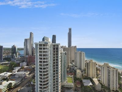 Photo for Q1 Resort Apartment 3 bedrooms Ocean View Free Parking Wifi walk minute to beach