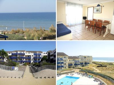Photo for Apartment for 6 people, small ocean view, résidence water front with pool, Lacanau Ocean