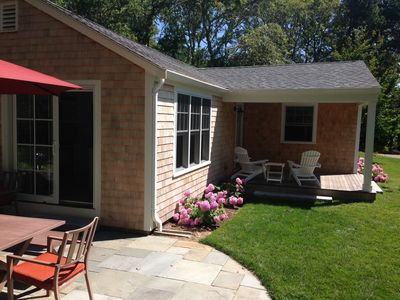 Patio and covered porch