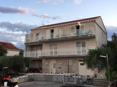 Photo for Two bedroom apartment with balcony and sea view Korčula (A-9158-b)