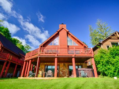 Photo for NEW! DOGS WELCOME! Lakefront Home w/Private Dock, Hot Tub, & Pool Table!