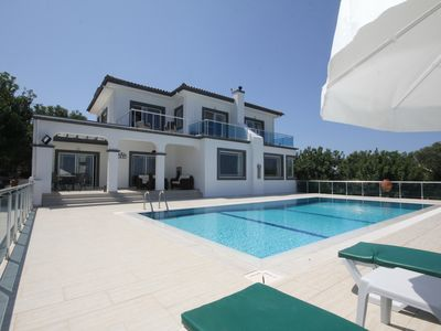 Photo for Sea and Mountain Views from this Luxury 4 bedroomed Villa with private pool