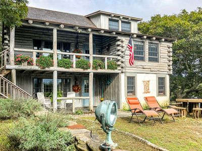 Photo for NEW LISTING! Rustic, waterfront home w/deck, lake/ocean views-1/4 mile to beach