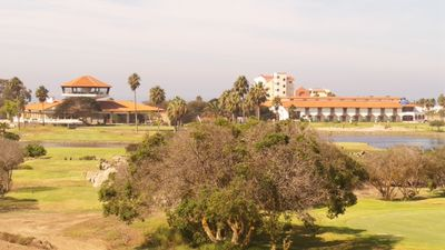 view of clubhouse and 8th green from Bajabrisas terrace