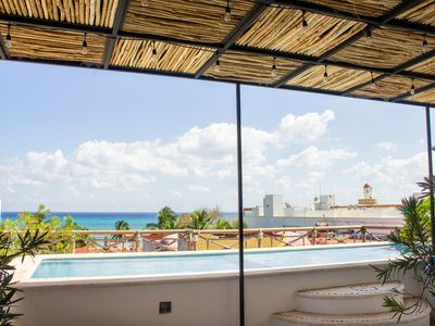 Photo for ☼Sunny 3br | 3ba penthouse + steps from the beach + close to nightlife ☼