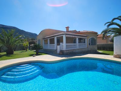 Photo for Village and beachnear holiday house, private pool, air condition, Internet