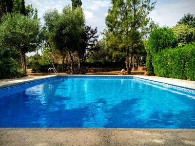 Photo for Finca Mandia, villa with 4 bedrooms, garden with playground and pool.