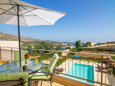 Photo for Villa Ilektra holds a fabulous position with gorgeous views overlooking Loutraki bay. It has an exce
