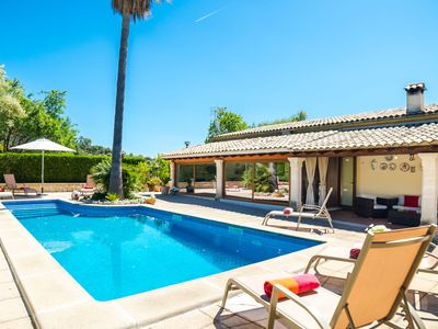 Photo for This 3-bedroom villa for up to 6 guests is located in Lloseta and has a private swimming pool, air-c